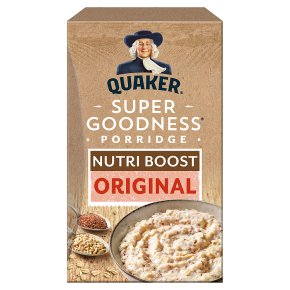 Quaker oat super goodness original porridge