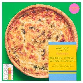 Waitrose Broccoli, Spinach & Ricotta Quiche