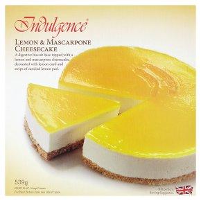 Indulgence lemon & masca cheesecake