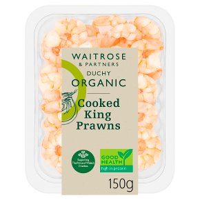 Waitrose Duchy Organic Cooked King Prawns