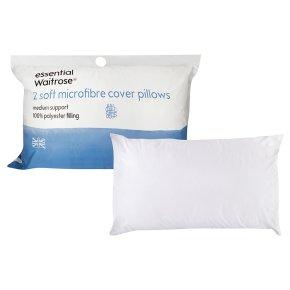 essential Waitrose medium support 2 soft micro pillows