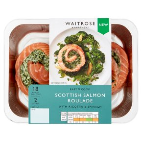 Easy to Cook Scottish Salmon Roulade with Spinach