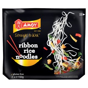 Amoy Straight To Wok Ribbon Rice Noodles Gluten Free