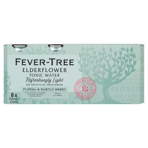 Fever-Tree Refreshingly Light Elderflower Tonic Water 8x150ml