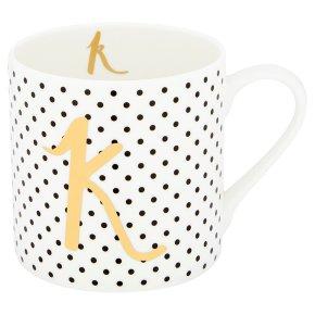 Waitrose 'K' Bone China Mug