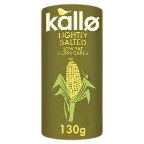 Kallo Corn Cakes Lightly Salted Wholegrain Low Fat