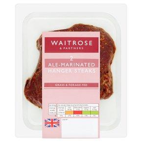 Waitrose 2 Hanger Beef Steaks with Ale