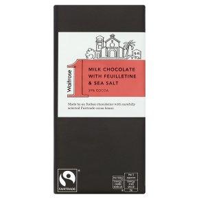 Waitrose 1 milk chocolate with feuilletine & salt