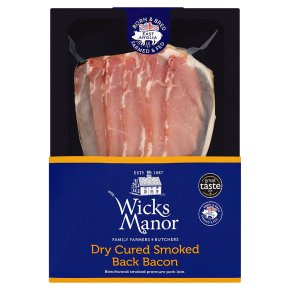 Wicks Manor Dry Cured Smoked Back Bacon