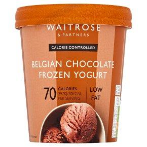 Waitrose LoveLife Calorie Controlled Belgian chocolate frozen yogurt