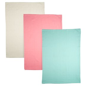 Waitrose Cooking Herringbone Coloured Tea Towels
