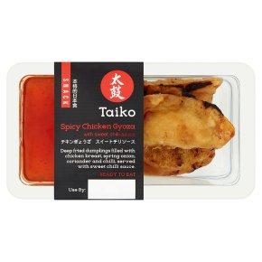 Taiko spicy chicken gyoza with sweet chilli