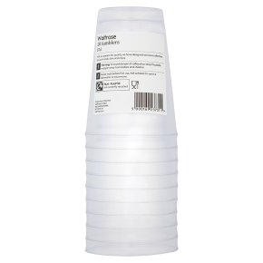 Waitrose 37cl clear tumblers, pack of 10