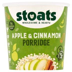 Stoats apple & cinnamon porridge quick pot
