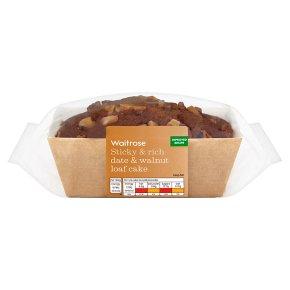 Waitrose Sticky & Rich Date & Walnut Loaf