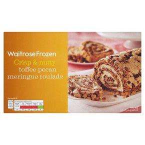 Waitrose Frozen toffee pecan meringue roulade