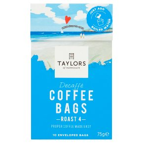 Taylors Decaffé Coffee Bags 10s