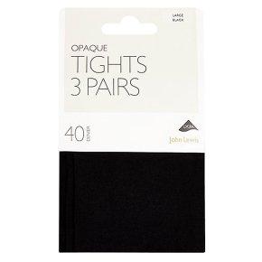John Lewis 40 denier opaque navy tights (large)