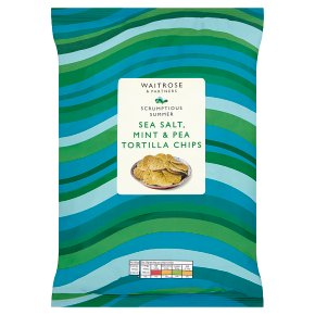 Waitrose Sea Salt, Mint & Pea Tortilla Chips