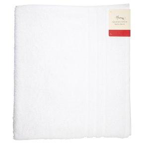 Waitrose Home Egyptian Cotton White Bath Sheet