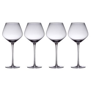 from Waitrose large red wine crystal glasses, pack of 4