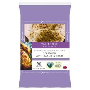 Waitrose Whole British Chicken with Garlic and Herbs
