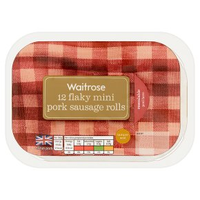 Waitrose 12 flaky mini pork sausage rolls