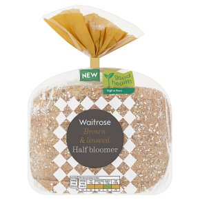 Waitrose Wholemeal & Linseed Half Bloomer