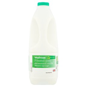 Waitrose Filtered Semi Skimmed Milk