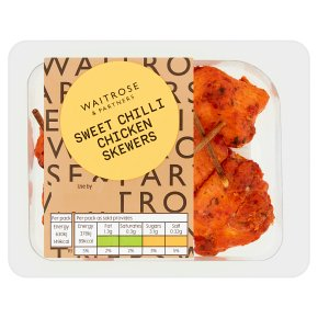 Waitrose Good To Go sweet chilli chicken skewers