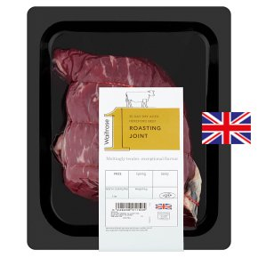 Waitrose 1 Hereford 30 day dry aged beef roasting joint
