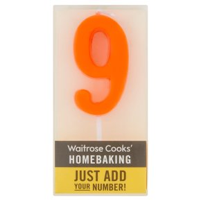 Waitrose Cooks' Homebaking Number 9 Candle