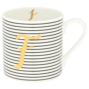 Waitrose 'F' Bone China Mug