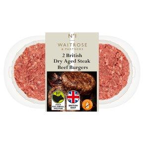 Waitrose 1 Dry Aged Hereford Steak Burgers