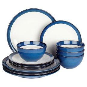 Waitrose Dining Oxford Blue 12 Piece Set
