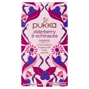 Pukka Elderberry & Echinacea 20 Fruit Tea Sachets