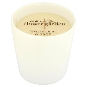Flower Garden White Lilac Candle