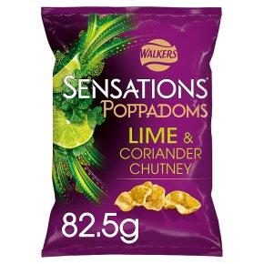 Walkers Sensations lime & coriander chutney poppadoms