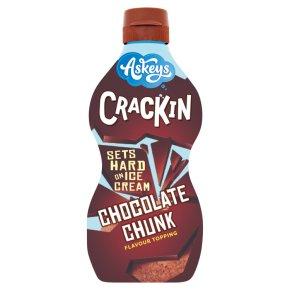 Askeys crackin chocolate chunk ice cream topping