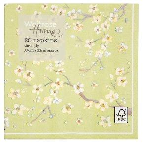Waitrose Home blossom napkins napkins 33cm x 33cm