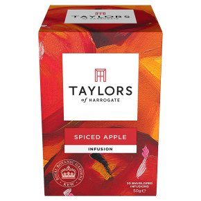 Taylors spiced apple wrapped tea bags, 20 pack