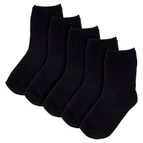 Waitrose New Ankle Socks Black 9-12