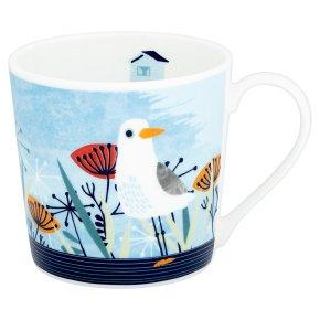Waitrose Dorset Seagull Scene Mug