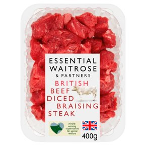 Essential British Beef Diced Braising Steak