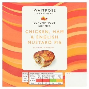 Waitrose Chicken, Ham & English Mustard Pie