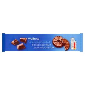 Waitrose 8 Milk Chocolate Shortcake Biscuits