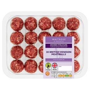 Waitrose 1 hand rolled venison meatballs