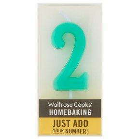 Waitrose Cooks' Homebaking Number 2 Candle