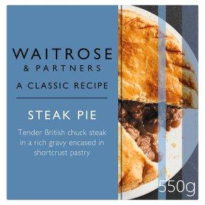 Waitrose steak pie
