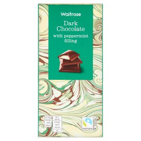Waitrose Dark Chocolate with Peppermint Filling